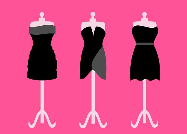 Dresses, Black, Short, Clothing, Dummy, Fashion, Gowns