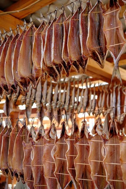 Dried, Fish, Omul, Baikalsee, Russia, Close, Dried Fish