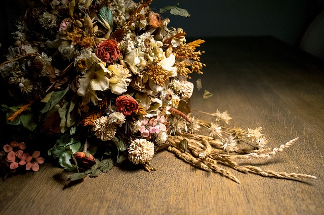 Dried Flowers, Bouquet, Flowers, Autumn, Floral Center