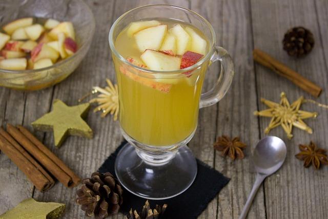 Punch, Apple, Apple Juice, Amaretto, Almonds, Drink