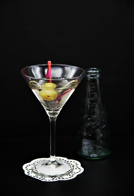 Martini, Glass, Olive, Bottle, Cocktail, Alcohol, Drink