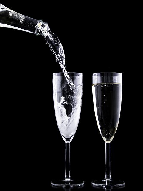 Eve, Drink, Crystal, Festive, Glass, Year, Toast, New