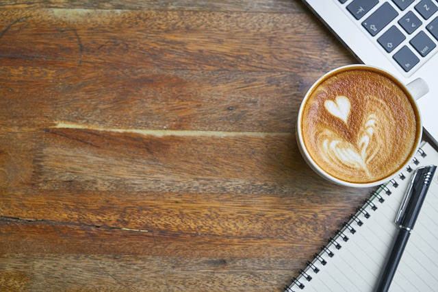 Coffee, Cafe, Table, Drink, Work, Notebook, Cup