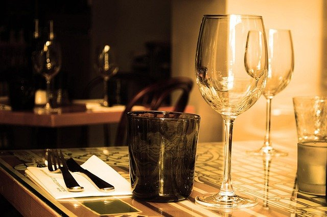 Table, Restaurant, Furniture, Glass, Wine, Drink