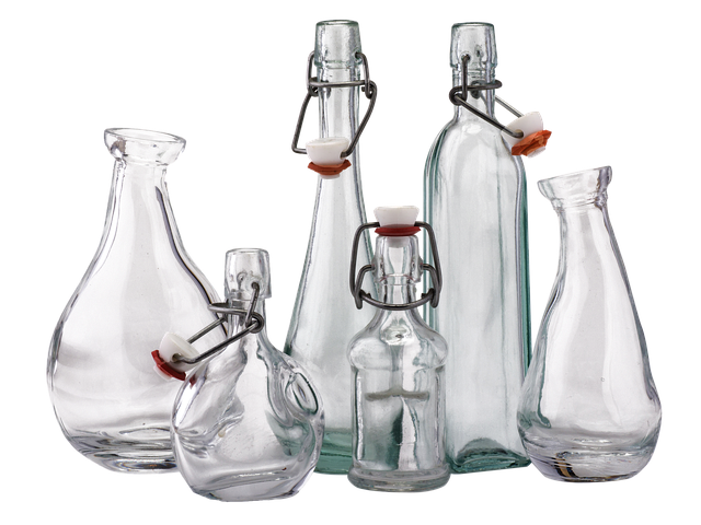 Bottles With Strap, Cork, Isolated, Transparent, Drink