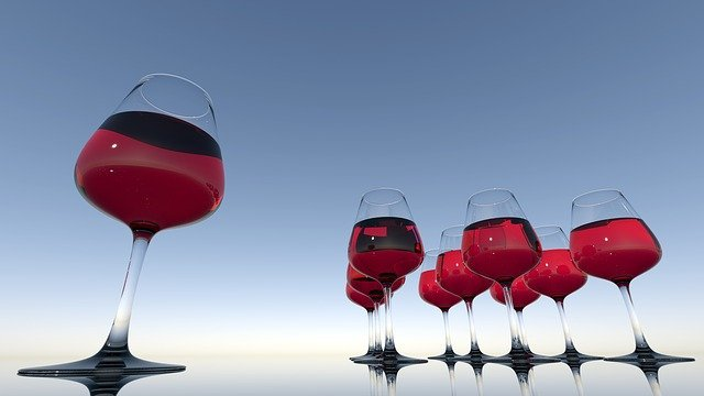 Wine Glasses, Wine, Drink, Red Wine, Alcohol, Glasses