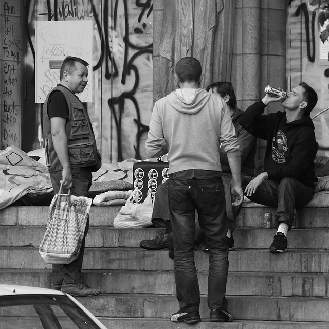 Alcohol, Drinking, Drink, Homeless, Poverty, Men