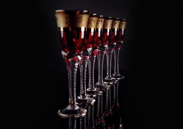 Glass, Dark, Alcoholic, Drinks, Shots, Liquor