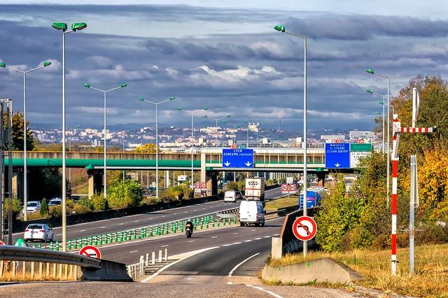 Highway, Road, Traffic, France, Lyon, Asphalt, Drive