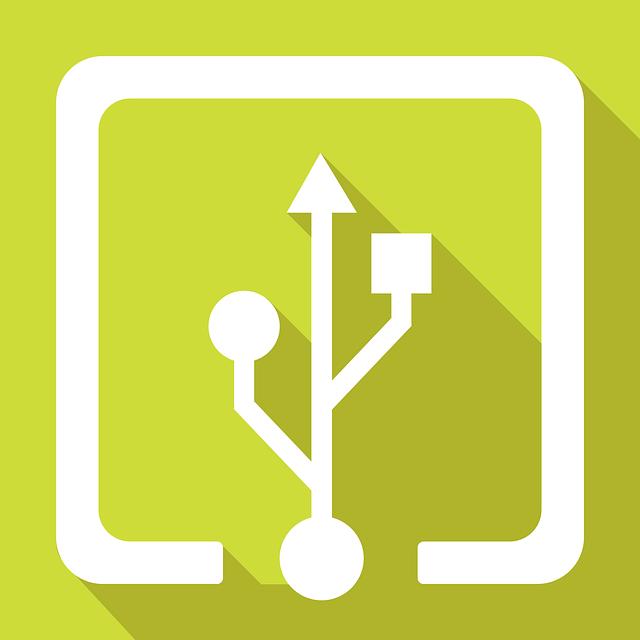Usb, Logo, Input, Flash, Drive, Memory, Flat Design
