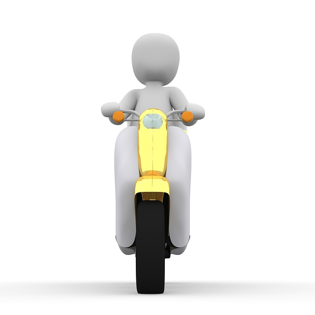 Roller, Vespa, Delivery, Motorcycle, Drive