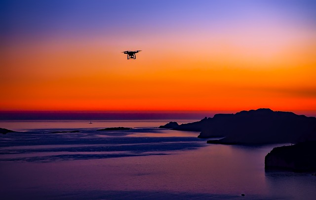Sunset, Drone, Sea, Ocean, Dusk, Colorful, Beautiful