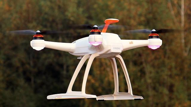 Drone, Uav, Sky, Clouds, Quadrocopter, Fly, Robot