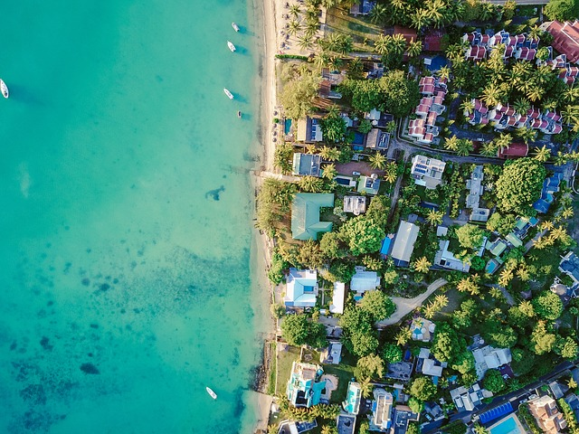 Aeriel, Aerial, Drone, Beach, Sand, Water, Ocean, Homes