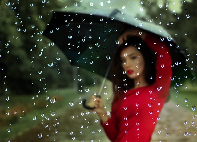 Drops, Rain, Rain Drops, Pane, Droplets, Autumn, Girl