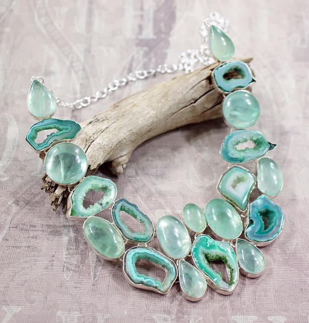 Apatite, Stone, Necklace, Aqua, Green, Druzy, Drusy