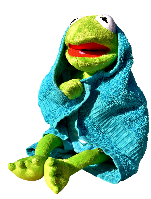 Kermit, Frog, Towel, Dry, Funny, Cute, Soft Toy