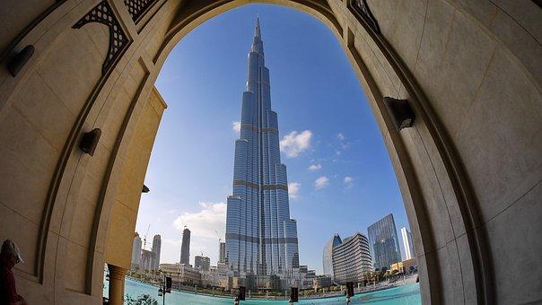 Dubai, Desert, Burj Kalifa, Emirates, Holiday