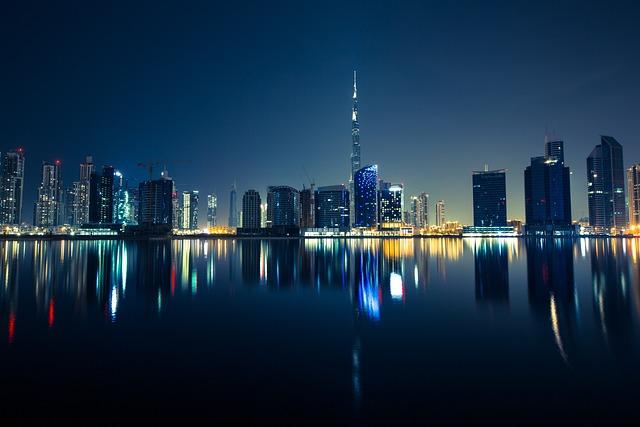 Buildings, Dubai, Metropole, City, City Lights