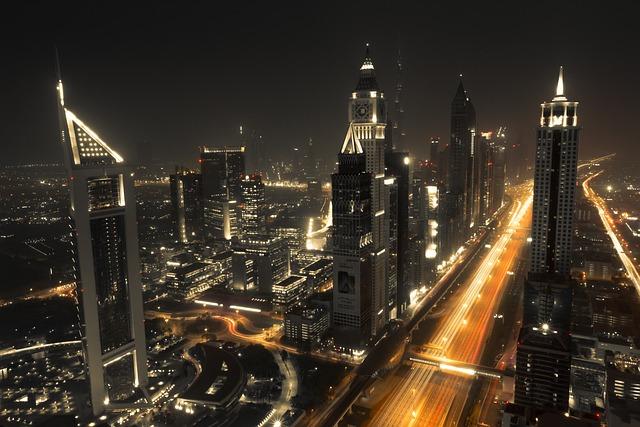 Dubai, Skyline, City, Architecture, Skyscrapers