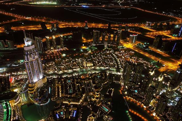 Night, Dubai, View