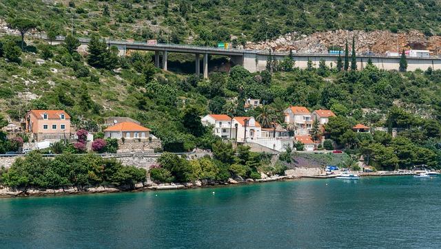 Croatia, Dubronvik, Architecture, Coastline, Highway