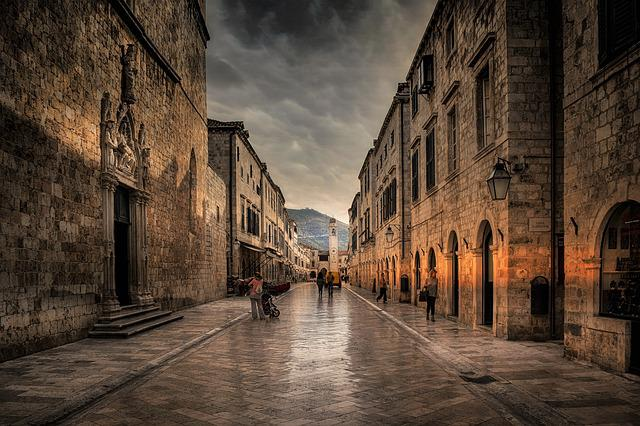 Dubrovnik, Croatia, Dubrovnic, City, Outdoors, Arches