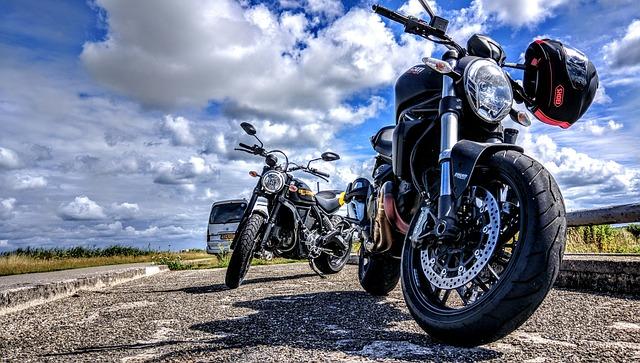 Motor, Clouds, Background, Ducati, Scrambler