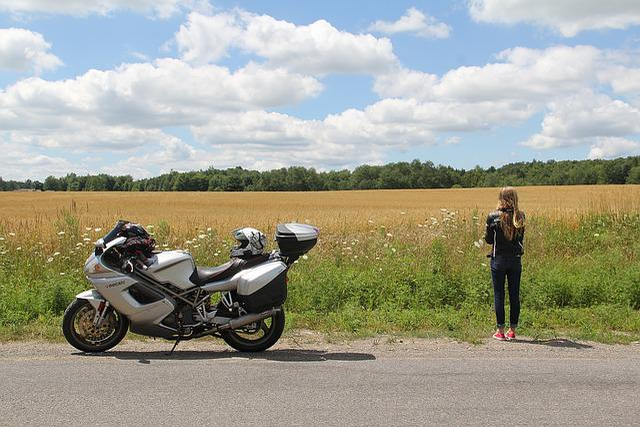 Farm, Ducati, Girl, Motorcycle, Sport Touring, Rural