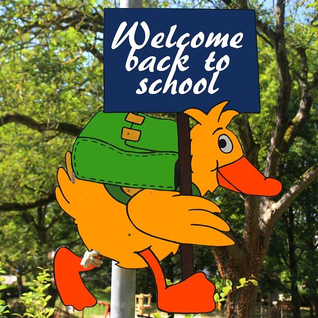 Shield, School, Back To School, Holidays, End, Duck