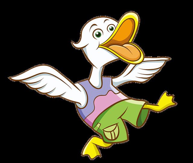Cartoon, Hand-painted, Duck
