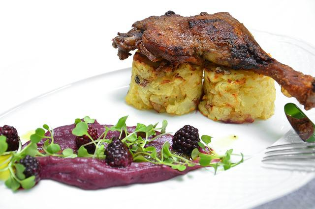 Food, Duck, Cabbage, Blackberry