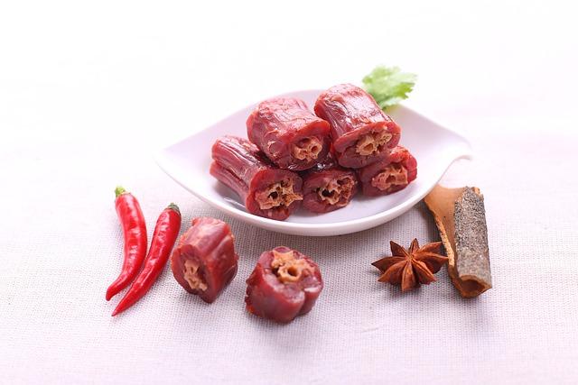 Food Shoot, Duck Necks, Red Pepper