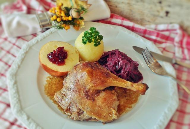 Roast Duck, Duck, Dumpling, Potato Dumplings