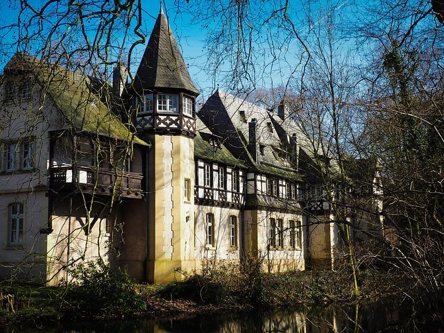 Castle, Historically, Old, Building, Düsseldorf