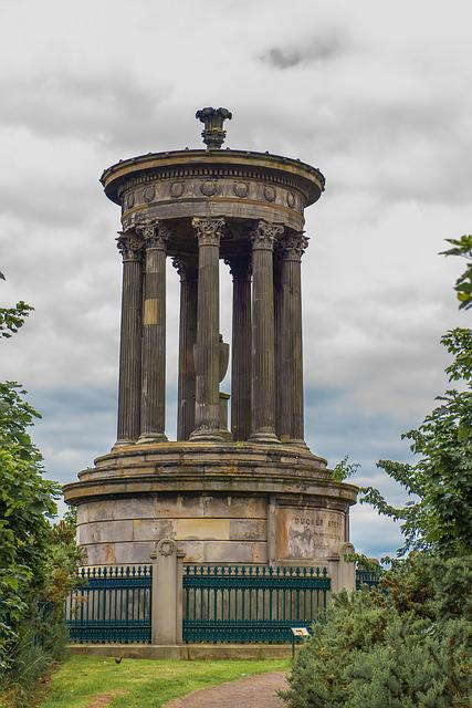 Dugald Stewart Monument, Edinburgh, Hill, Monument