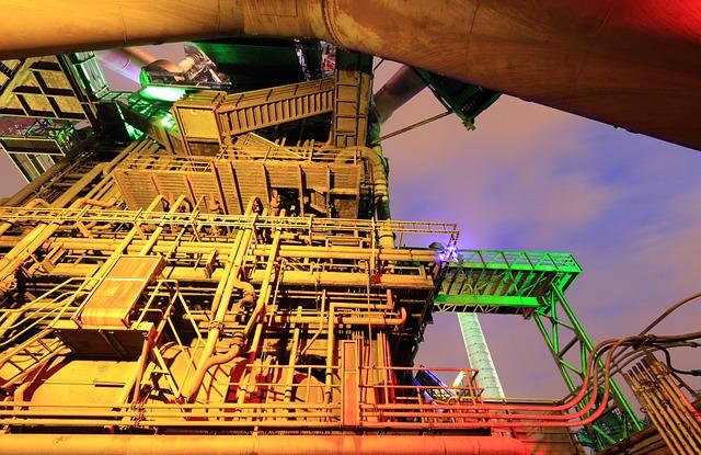 Germany, Duisburg, Landschaftspark, Steel, Plant