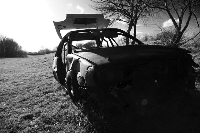 Car, Wreck, Joyrider, Dumped, Burnt Out, Vehicle