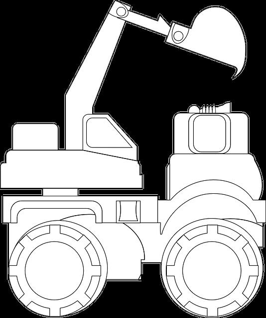 Dumper, Caterpillar, Lever, Excavator, Bulldozer, Dump