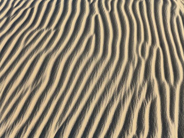 Desert, Sand, Dune, Background, Pattern, Wind Blowing