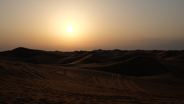Dune, Desert, Landscape, Wallpaper, Sun, Sunset, Nature