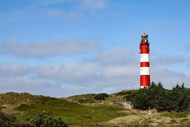 Lighthouse, Dune, Amrum, North Sea, Nordfriesland