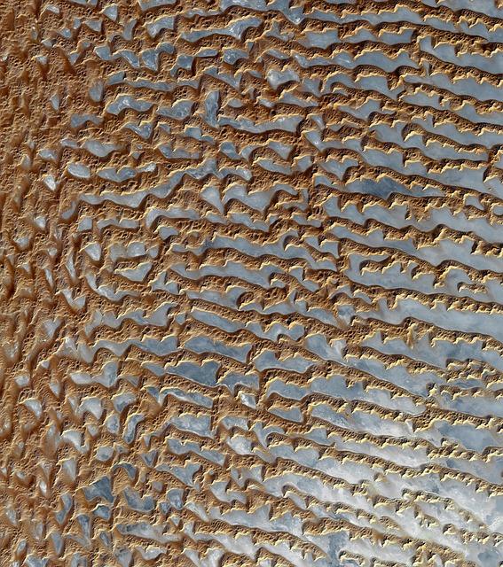 Desert, Dunes, Sand Dunes, Dune Sea, Aerial View