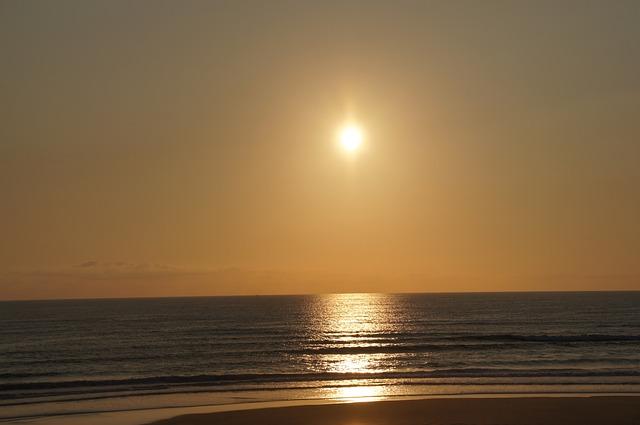 Beach, Ocean, Sunset, Biscarrosse, Atlantic, Dune, Sea