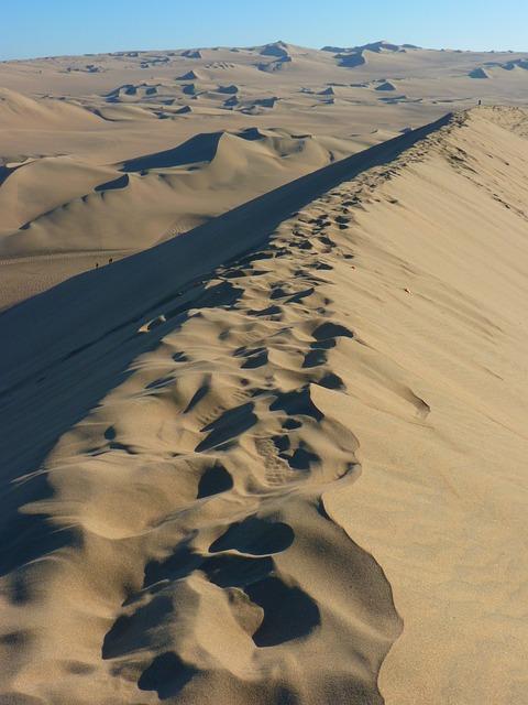 Desert, Dunes, Dune Ridge, Dry, Sand, Sun, Hot