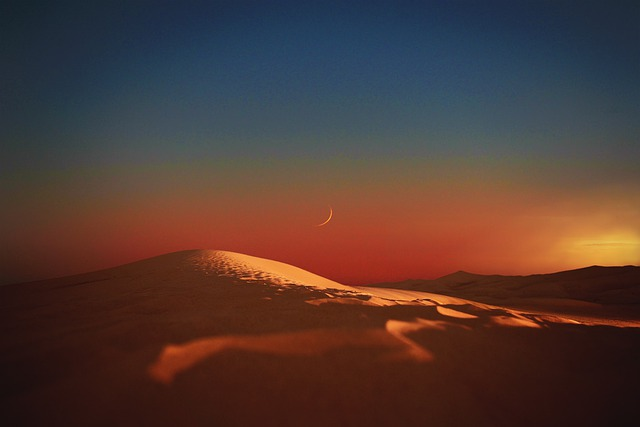 Landscape, Desert, Dunes, Sunset, Sun, Colors, Light