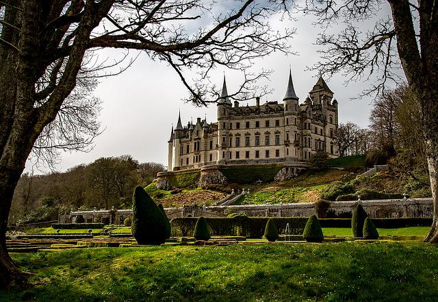 Dunrobin Castle, Castle, Chateau, Scotland, Historical