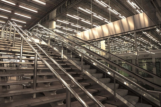 Stairs, Rotterdam, Station, Duo-tone