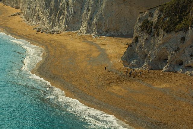 Durdle Door, Beach, Ocean, Limestone Arch, The Ocean