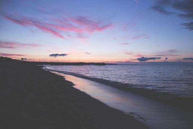 Nature, Baltic, Beach, Clouds, Dusk, Evening, Gdansk